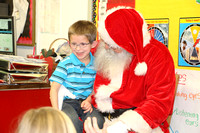 Santa Visits kindergarten, 1st, and 2nd grades- Michelle Bahena