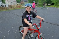 Bike to school:  Claire Meyer